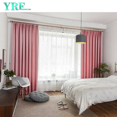 Factory Supply Pink Hotel Blackout Záclony For Sale